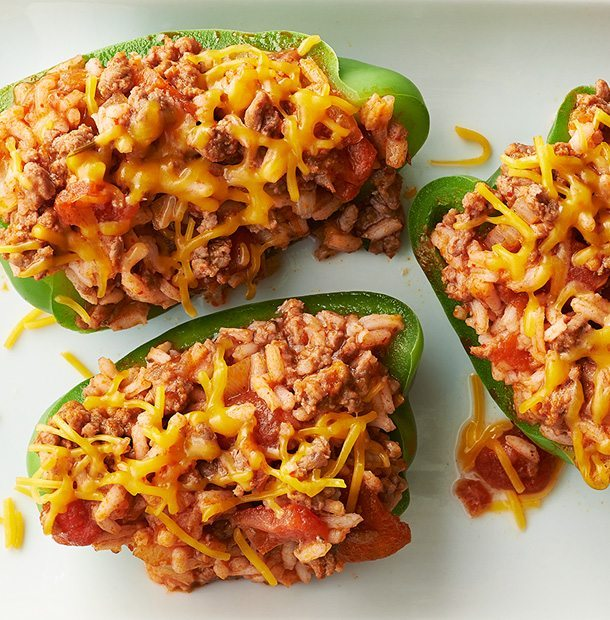 Upside Down Stuffed Peppers