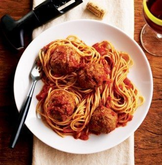"""That's amoré"" Spaghetti & Meatballs"