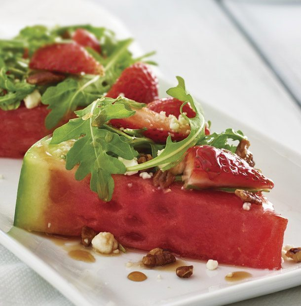 Watermelon Salad with Balsamic Glaze