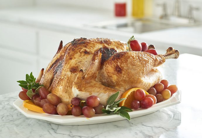Holiday Roasted Turkey with Orange-Sage Butter